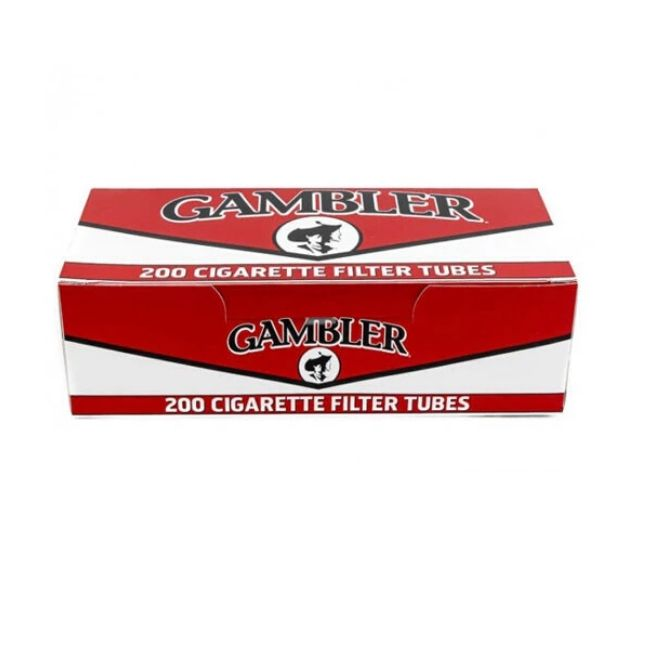 GAMBLER CIGARETTE TUBE 200CT – DISPLAY OF 5 BOX