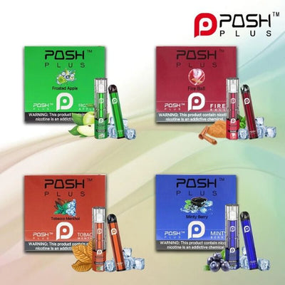 POSH PLUS 6% NIC DISPOSABLE POD 2.0ML 500PUFFS - DISPLAY OF 10 *** LIMIT 2 BOXES EACH FLAVOR