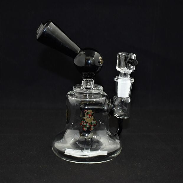 HIGH MED QUALITY GLASS SMALL WATERPIPE WITH SHOWER PERC (WP374)