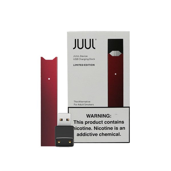 JUUL MAROON  BASIC KIT (DEVICE AND CHARGER)