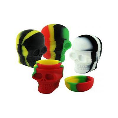 Concentrates - 15ml Skull Silicone Jar