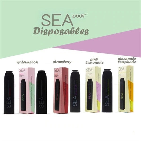 SEA PODS 1.2ML DISPOSABLE POD DEVICES - DISPLAY OF 8