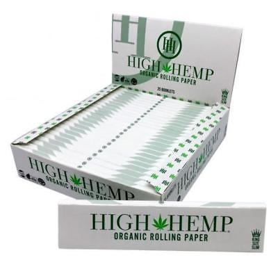 Smoke Accessories - High Hemp Organic Rolling Papers - Kingsize Slim