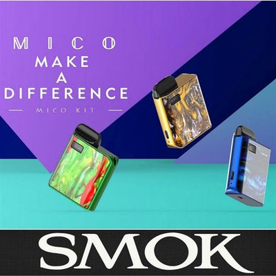 SMOK MICO 700MAH POD SYSTEM STARTER KIT WITH 2 X 1.7ML REFILLABLE PODS