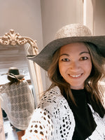 Felt Floppy Hat in Heather Grey