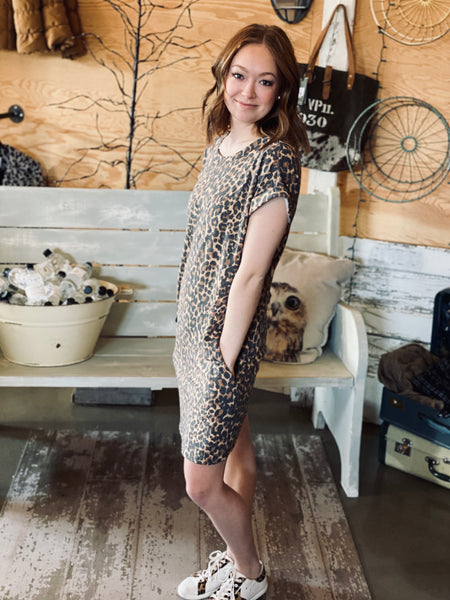 Kennedy Leopard T-Shirt Dress