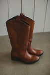 Rebels Juniper Cognac Leather Boots