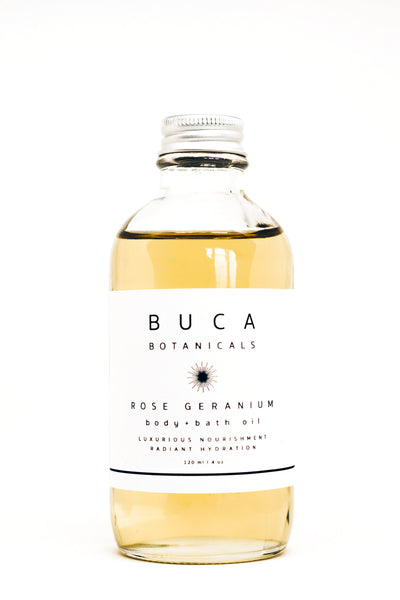 Buca ROSE GERANIUM BODY+BATH OIL