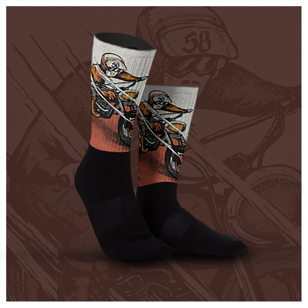 """ Indian Dunes "" Graphic Sock"