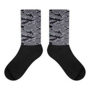 """ Tiger Attack - Gray "" Graphic Sock"