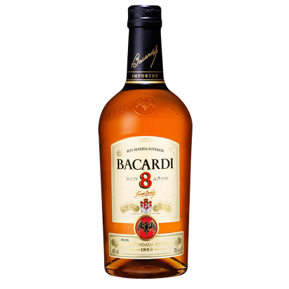 Bacardi 8 Year Rum 750ml