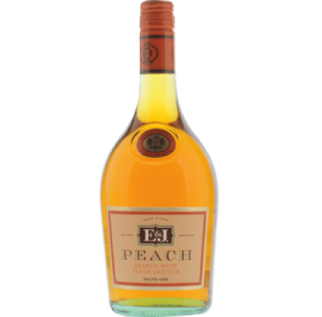 E & J Peach Brandy 750ml