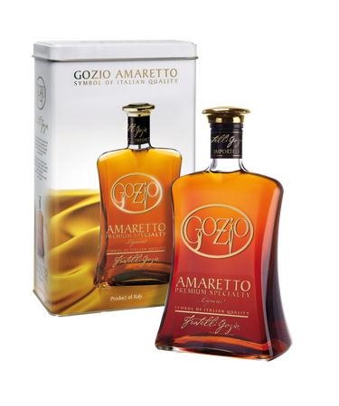 Gozio Amaretto W/2 Glass Gift Set