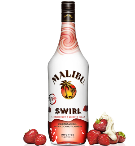 Malibu Swirl Strawberry Swirl 750ml