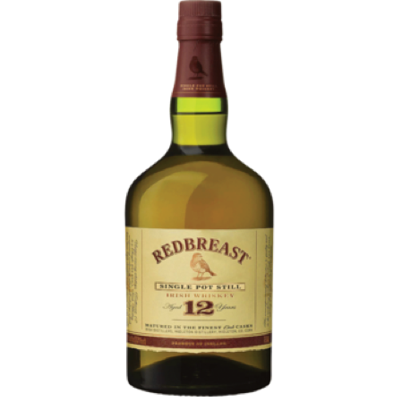 RED BREAST SINGLE POT STILL IRISH WHISKEY 12YR