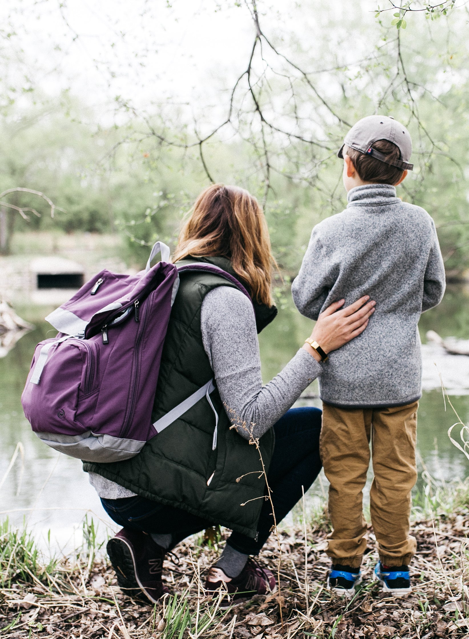 Mothers Day - All of Us Travel Cruiser Backpack mother and son in nature