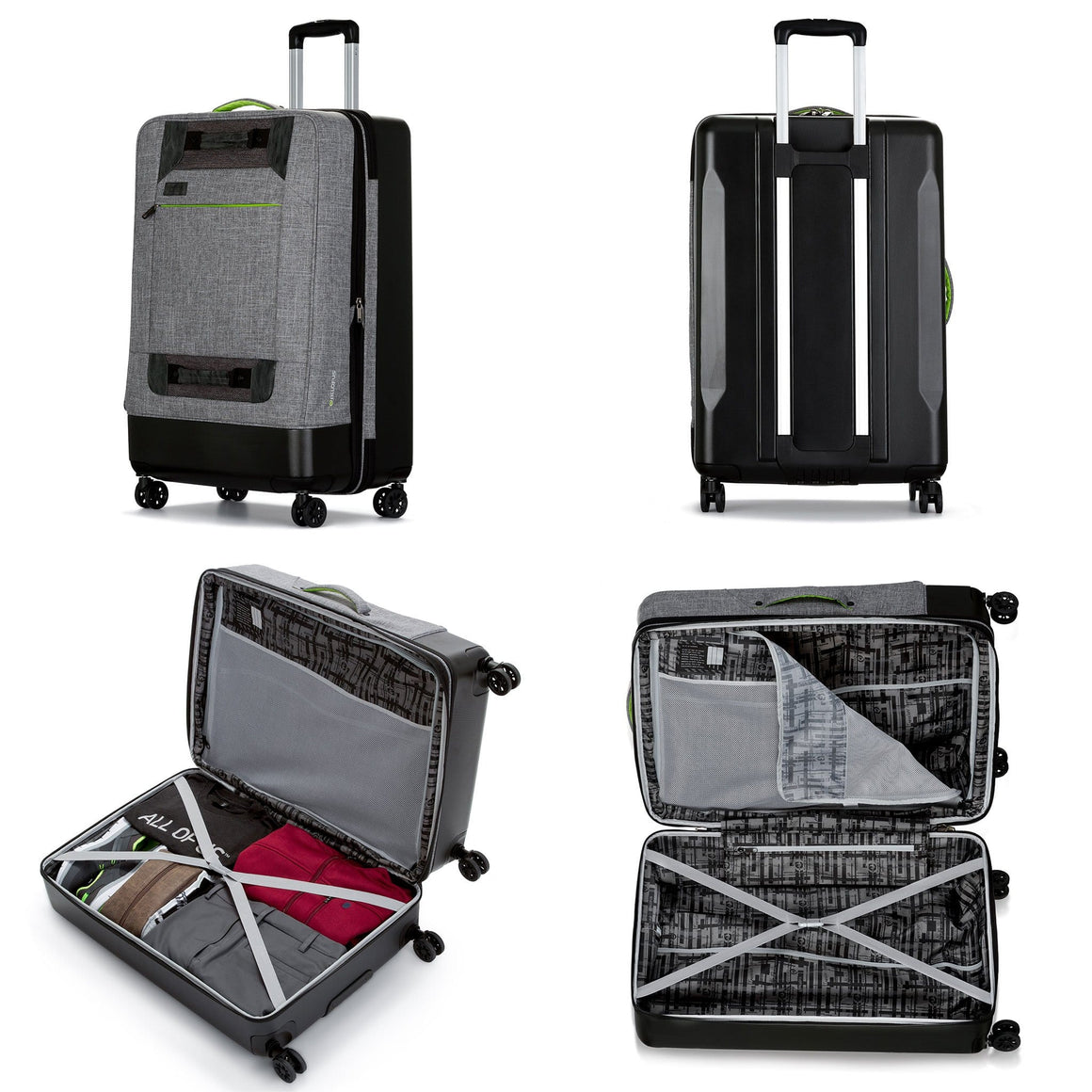 Front of All of Us 28 inch Rolling Large Spinner Suitcase