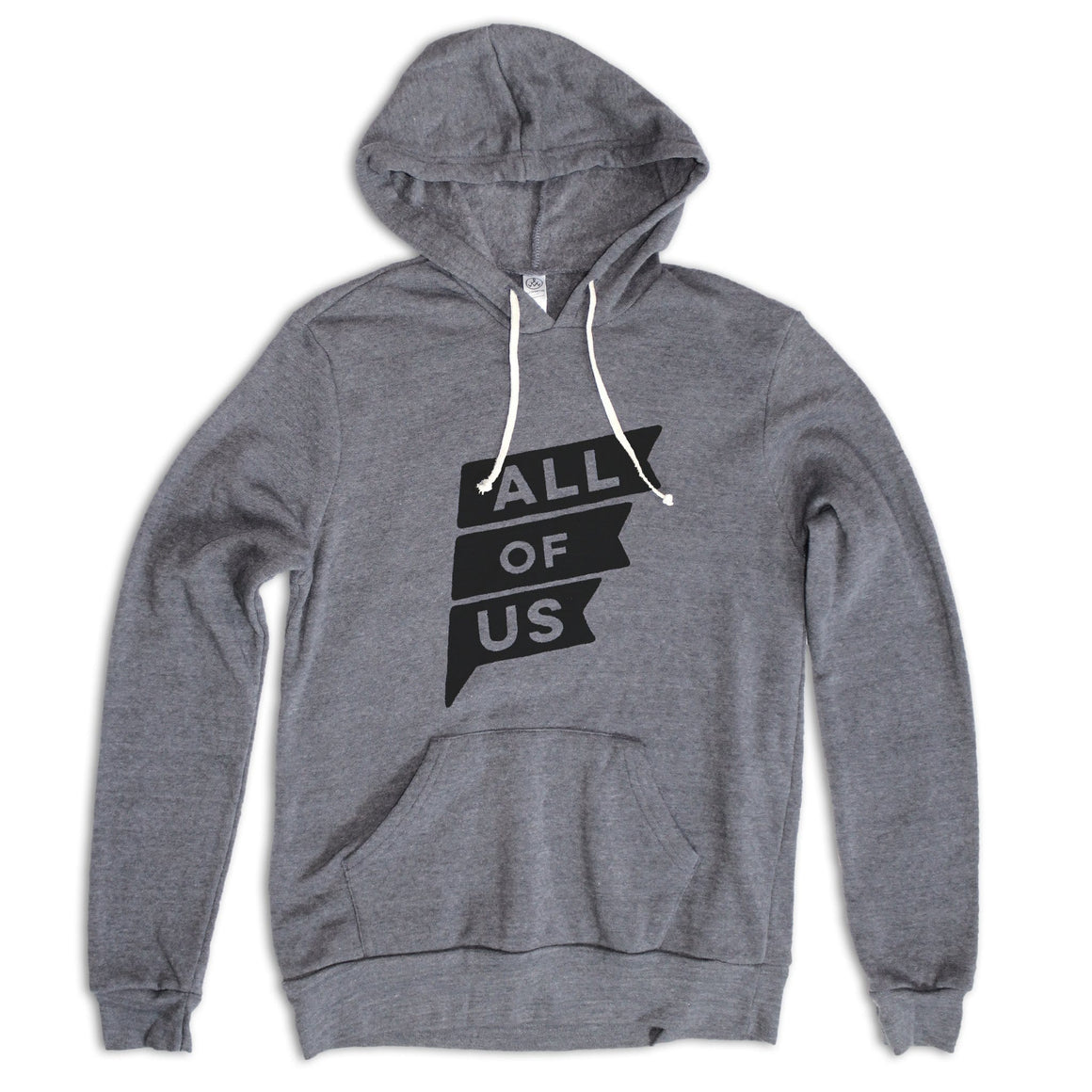 Men's All of Us™ Eco Grey Hoodie with All of Us Flag Print