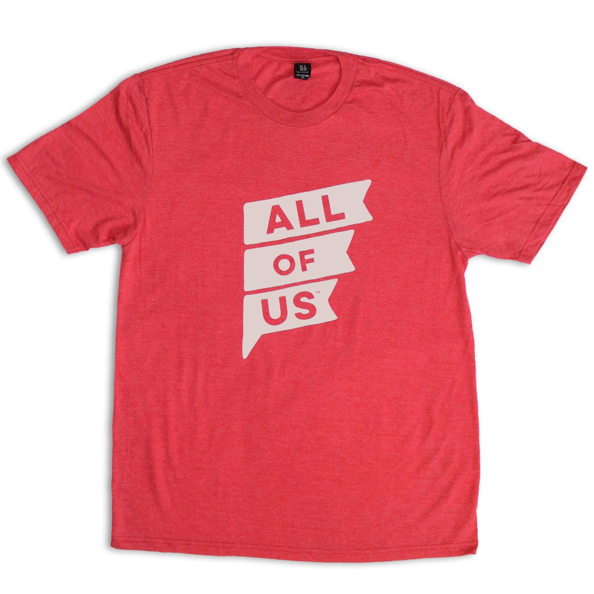 Men's Red Frost Crew Tee with Al
