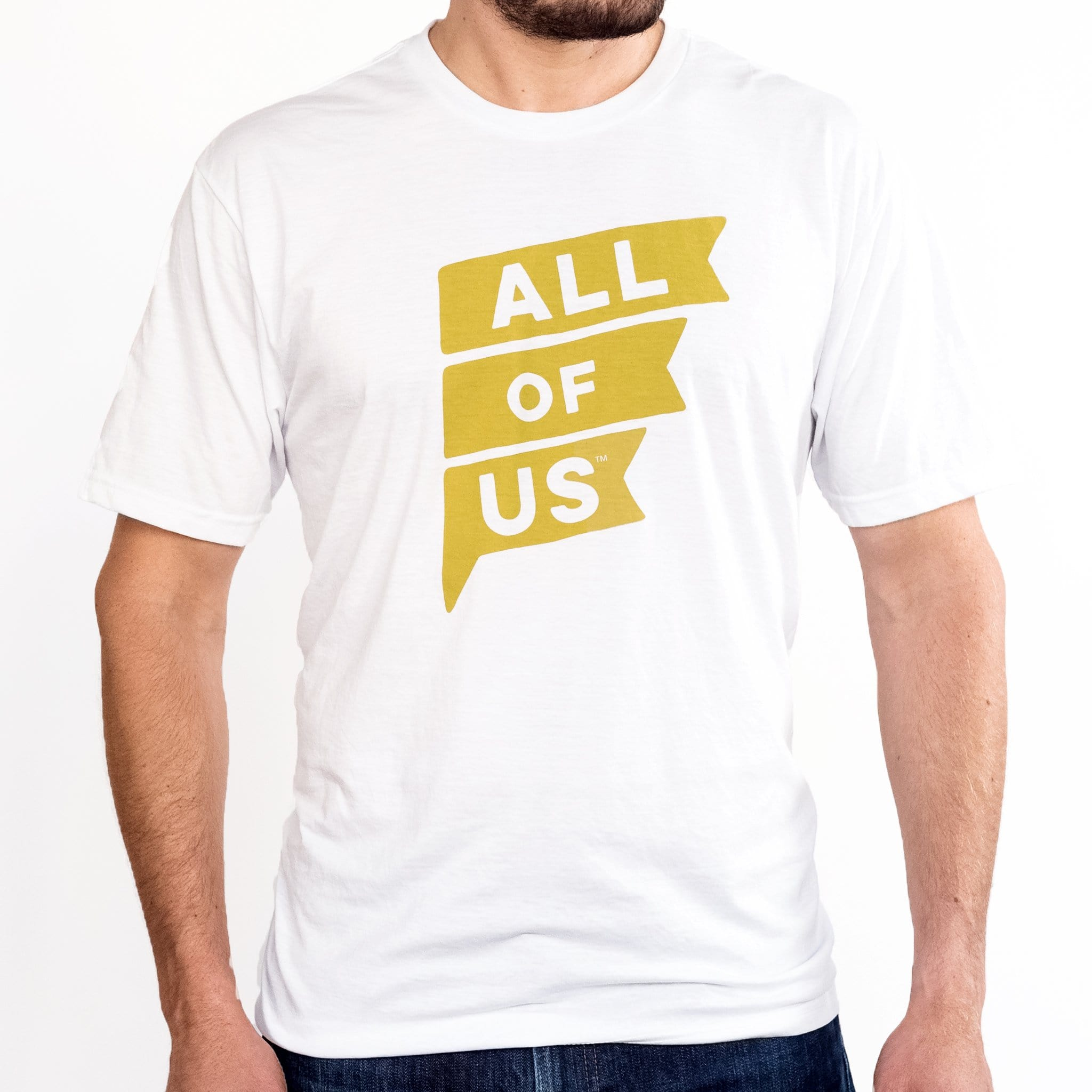 25e5e0b08 Men's All of Us White Tri-Blend Crew Tee