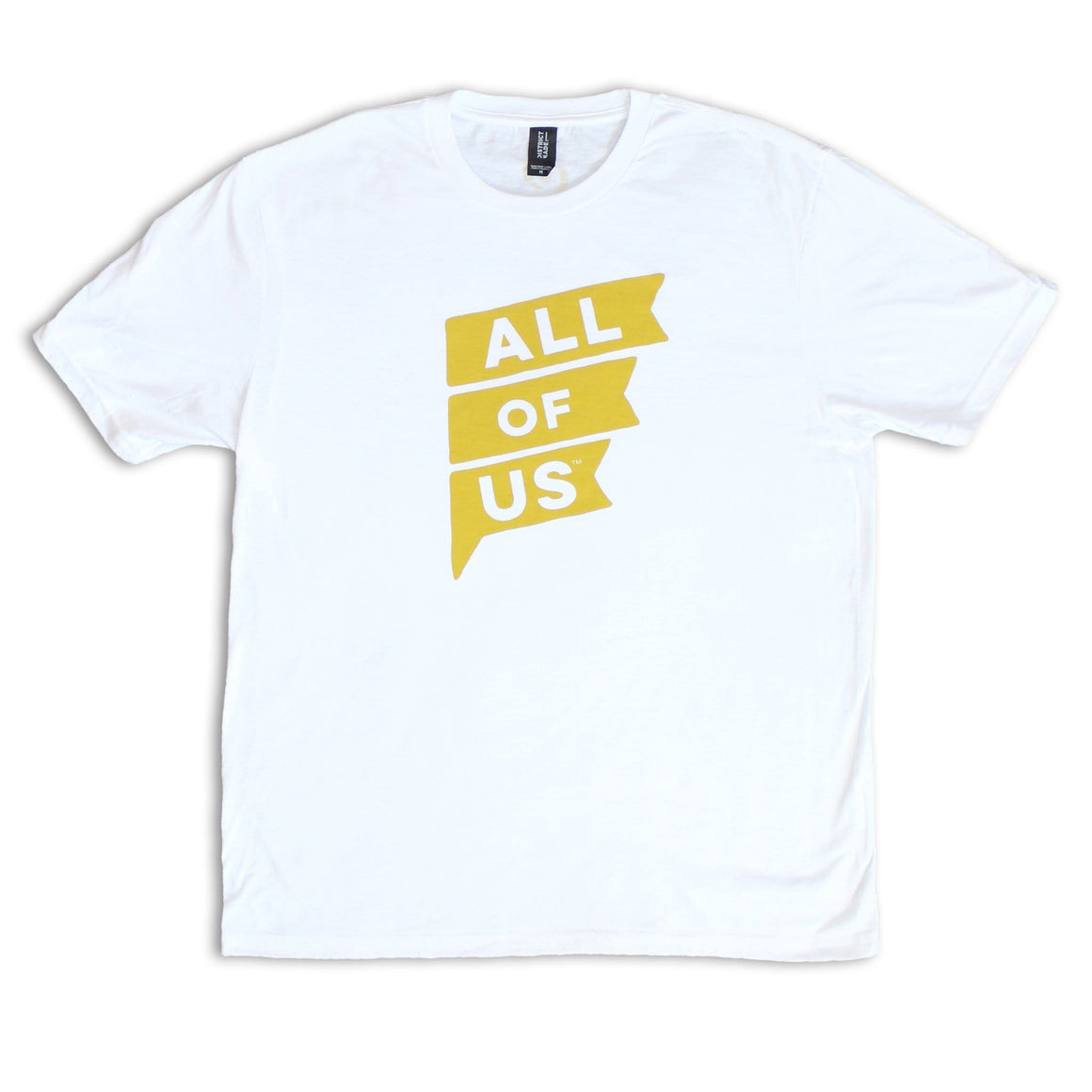 Men's All of Us White Tri-Blend Crew Tee