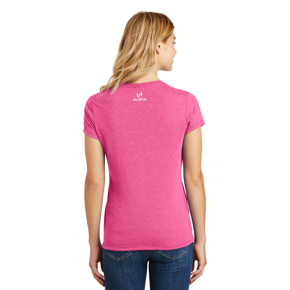 Womens All of Us Fuchsia Frost Tri-Blend Crew Tee