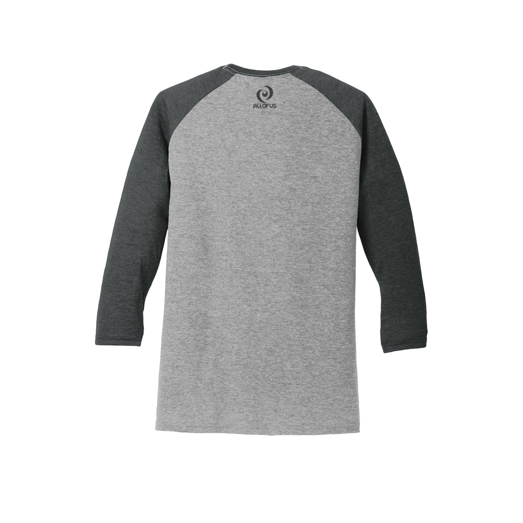 a16df3197 Men's Grey/Black All of Us Tri Blend ¾ Sleeve Raglan Jersey