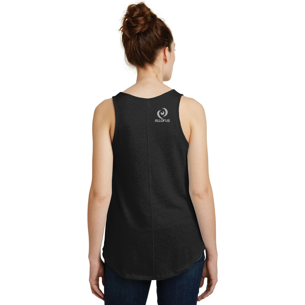 Womens All of Us Black 50/50 cotton/poly Vintage Tank Top