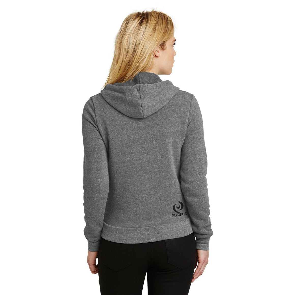Womens Human.Kind. Eco Grey Fleece Pullover Hoodie