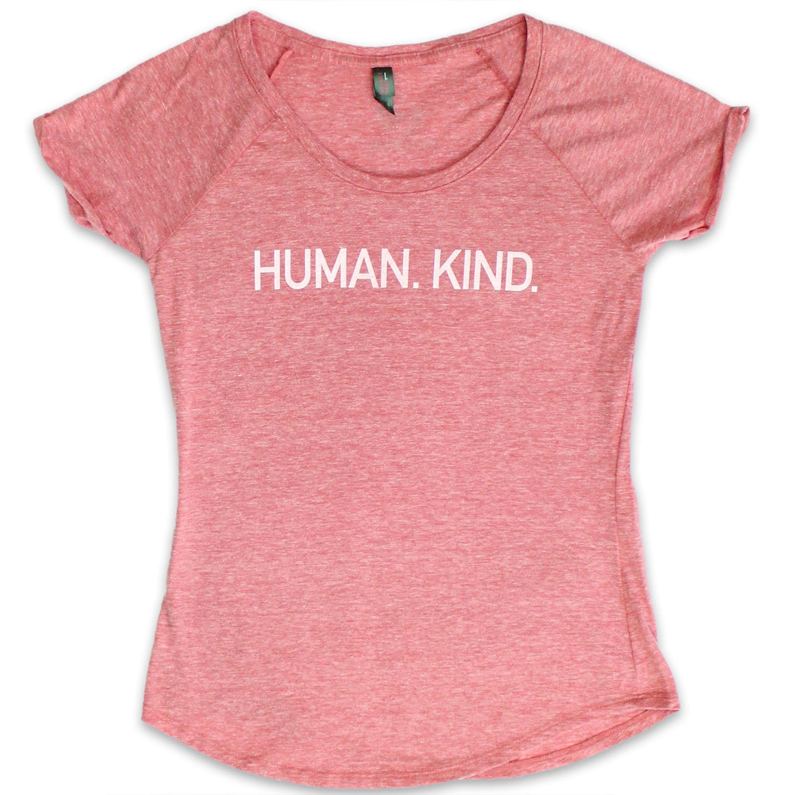 HUMAN.KIND. Red Heather Scoop Neck Tee