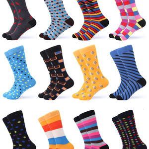 Swish Colorful Dress Socks 12 Pack