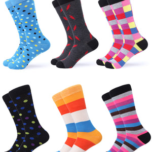 Cool Colorful Dress Socks 6 Pack