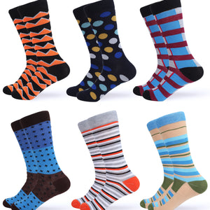 Casual Colorful Dress Socks 6 Pack