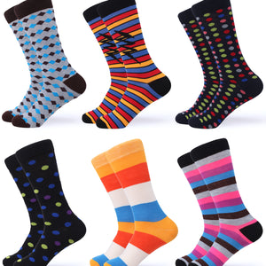 Classy Colorful Dress Socks 6 Pack
