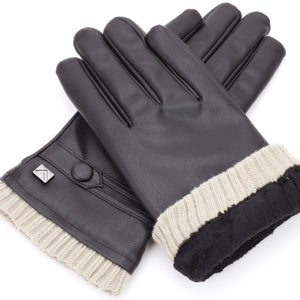 Button Touchscreen Winter Gloves