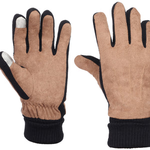 Luggage Suede Leather Gloves