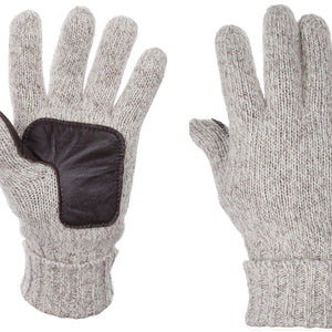 Almond Suede Leather Gloves