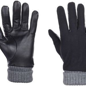 Onyx Suede Leather Gloves