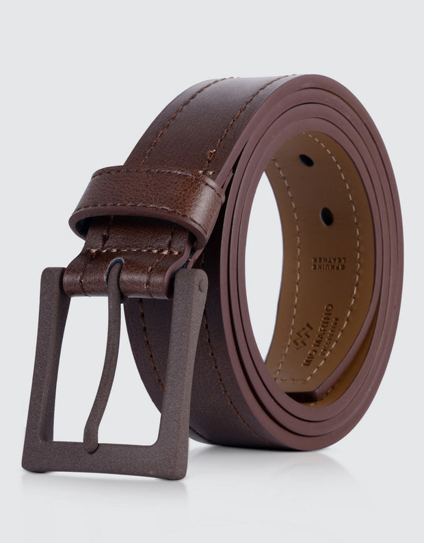 Solid Casual Belt Single Prong Buckle 1