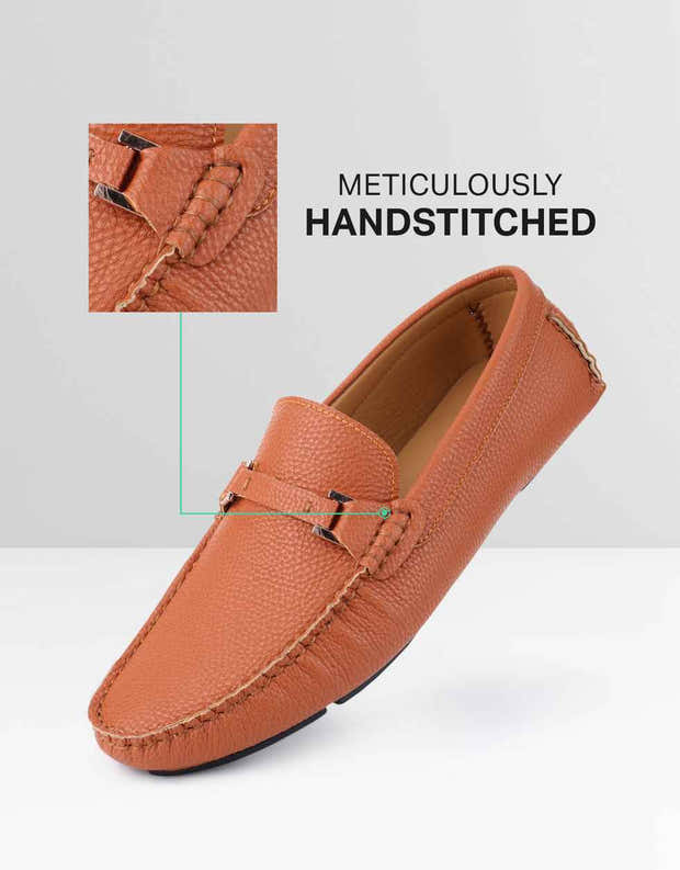 Buckle Tread Casual Loafers 1