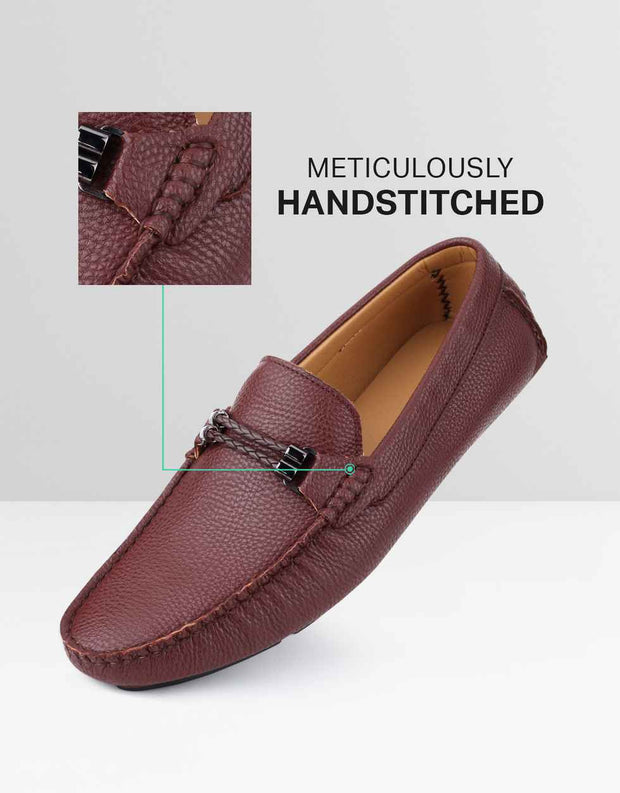Speckled Leather Casual Loafers 1