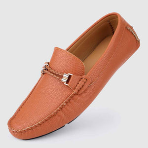 Speckled Leather Casual Loafers