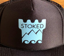 Santa Barbara Stoked Trucker Hat - Logo with Stoked