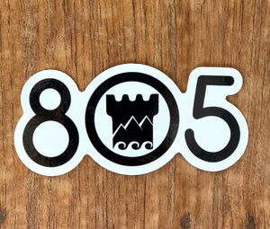 Santa Barbara Stoked 805 With Logo Sticker