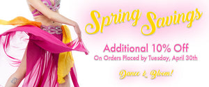 Spring Savings Banner - Unicorn Belly Dance Supplies - Additional 10 Percent Off