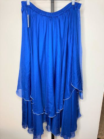 Skirt ~ blue 2-layer sheer