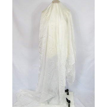 White Habotai Rectangular Silk Veil