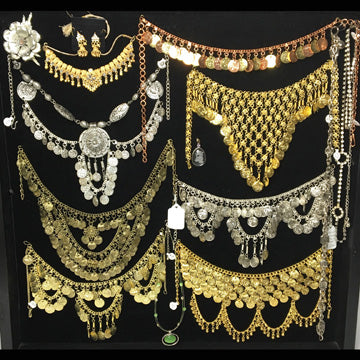 Silver & Gold Belly Dance Style Necklaces