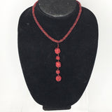 Beaded Necklace ~ Dangling Balls ~ Adjustable!