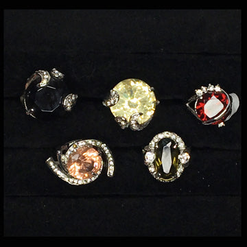 Five Fancy Jeweled Rings